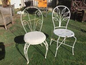 2 Old Wrought Iron Garden Chairs Beckenham Gosnells Area Preview