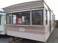 Static caravan for sale, pre-owned, 28 x 10 ft 2 bedroom Cosalt Torino in good condition