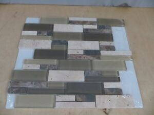 Glass & Stone Mosaic Wall Tile