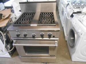 "Cuisiniere au gaz DCS 30"" / DCS 30 ""Stainless Steel Gas Cooker"