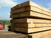 TIMBER SLEEPERS NEW, GREEN,BROWN OR BLACK