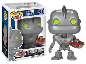 Funko pop! The iron giant with car (vaulted)