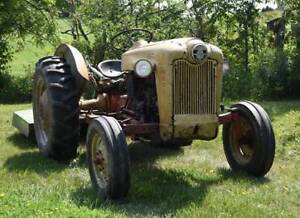 1954 Ford 600 Series Tractor w/ JD mower
