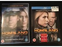 Homeland Complete Season 1 DVD and Season 2 Blu Ray (OPEN TO OFFERS)
