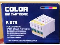 3 x BOXES OF EPSON STYLUS COMPATABLE REPLACEMENT INK CARTRIDGES ( NEW, SEALED, BOXED )