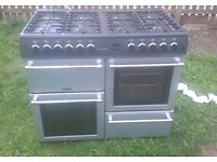 range chef cooker belling/ double oven 8 rings & fan assisted