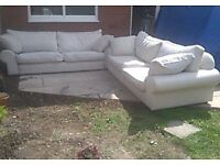 2 very large quality sofas just 8 months old/ van needed