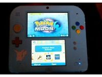 Nintendo 2ds with pokemon moon installed