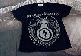 Marilyn Manson t shirt. Unworn. Size S