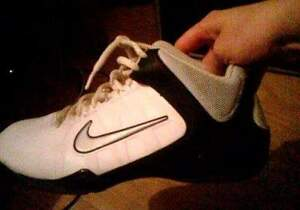 black and white nike AV pro shoes for sale