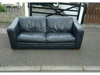 3 seater sofa in black leather mint condition £150 delivered