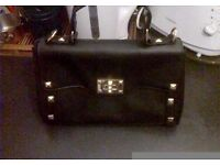 Brand New Black Leather Hand Bag