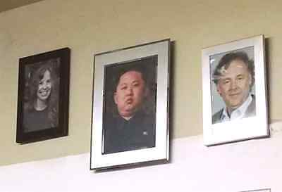Kim Jong il and Kim Jong Un Framed Picture