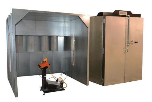 Powder coating booth ebay for Powder coating paint booth
