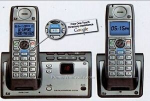GE TC28223EE2-A Wireless 2 handset DECT 6.0 cordless Home Phone