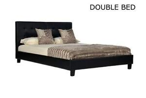 double bed frame and mattress
