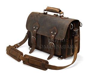 Vintage-Style-Leather-Briefcase-Satchel-Messenger-Laptop-Bag-Case-Satchel-16