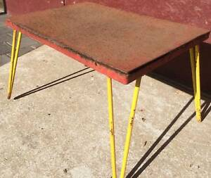 Industrial coffee table all Steel with hairpin legs. Kewdale Belmont Area Preview