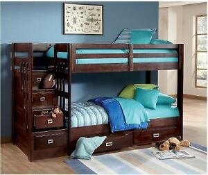 Kids Bunker Bed (with 2 mattresses)