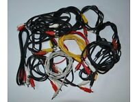 Job lot of cables, adapters etc.