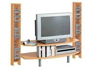 Italian Wall TV Stand With Two Side CD Storage Racks