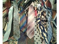 Batch of 100+ Vintage Men Ties from 50s to 80s