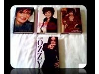 OZZY & SHARON OSBOURNE BIOGRAPHY BOOKS - (4) - HARDCOVER - FOR SALE