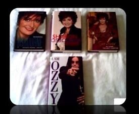 OZZY & SHARON OSBOURNE BIOGRAPHY BOOKS - (4) - HARDCOVER - FOR SALE