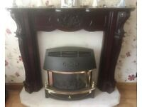 Gas Fire and Adam Style Fire Surround.