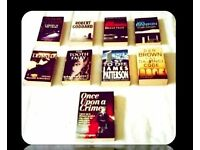 CRIME BOOKS - (9) - PAPERBACK - FOR SALE