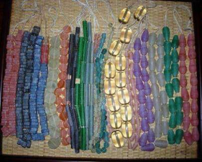 17 strands of resin beads for necklaces Annandale Leichhardt Area Preview