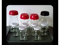 SELECTION OF EMPTY GLASS JARS - 10 - FOR SALE