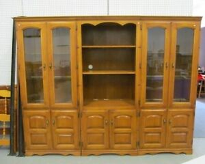 GORGEOUS 3 PART WALL UNIT - SOLID WOOD