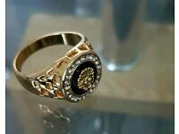 Versace Medusa Head Ring (not Rolex,Cartier , Swarovski, Gucci , iPhone )