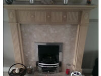 Limed Oak Effect Fire Surround