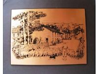 1970s Vintage copper etching / engraving by James Herriot