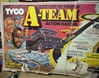 """The A Team, MR """"T"""" SLOT CAR SET, NEVER USED, DAMAGE TO BOX"""