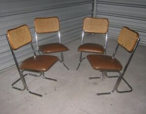 Vintage Tubular Modified Sling Chairs - Cool Leg Design