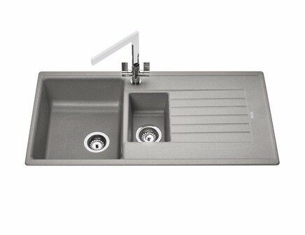 Bathroom Sinks Glasgow howdens lamona grey granite composite 1.5 bowl sink new and unused