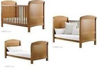Cosatto arlo walnut cot cotbed excellent condition