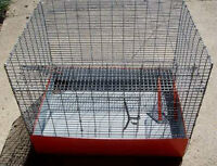 3 Level Wire Pet Rat or Chinchilla Cage with Removable Tray