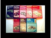 HAYNES SERVICE AND REPAIR MANUALS - 8 BOOKS - FOR SALE