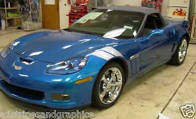 2006 10 13 14 15 16 17 Corvette FAT Grand Sport Fender Hash Mark Stripe Stripes