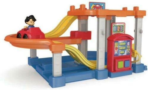 SALE Fisher Price Little People Race - Speelgoed Garage