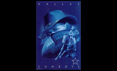 Dallas Cowboys 1997 Pro Player Design NFL Theme Art WALL POSTER (Rare Edition) - Dallas Cowboys Theme