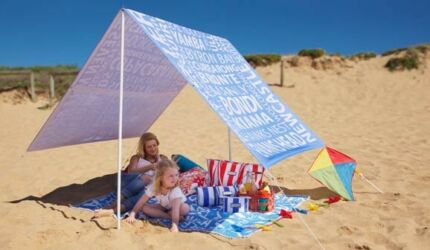 Sunny Jim beach tent and blanket