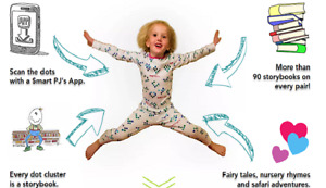 CHILDREN'S SMART PJ'S EVER PAIR BRING 90 STORY BOOKS TO LIFE !!!
