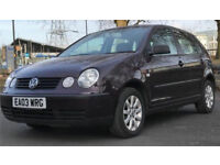 2003 VW VOLKSWAGEN POLO 1.4 SPORT * ALLOYS * 5 DOOR * BARGAIN* * MOT * P/X * DELIVERY