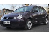 2003 VW VOLKSWAGEN POLO 1.4 SPORT * ALLOYS * 5 DOOR * BARGAIN* * MOT * P/X * DELIVERY