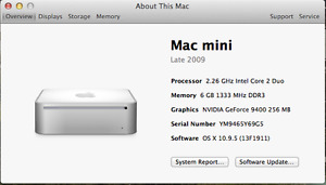 Mac Mini late 2009 in excellent condition with ssd and 6gb ram